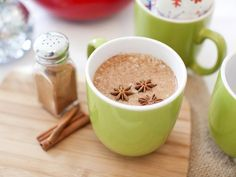 Spiked Chai Tea.  Spicy, sweet and creamy, this hot toddy can be enjoyed with or without an extra kick of bourbon.   http://www.hgtv.com/entertaining/cold-weather-cocktails/pictures/page-4.html?soc=pinterest