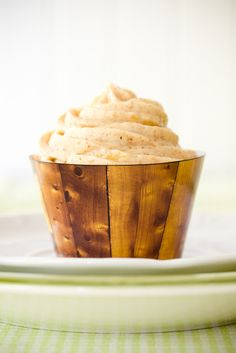 Hummingbird Cupcakes with Pineapple Almond Butter Cream Cheese Frosting - from Cupcake Project