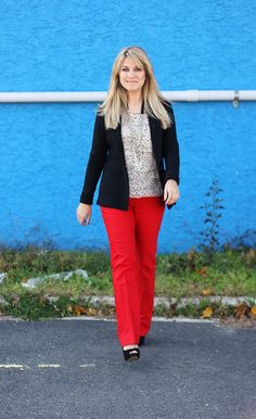 Red pants style, red pants