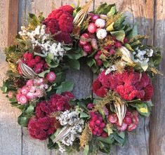 Pink and Green Wreath