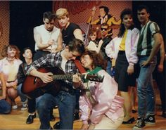 Tina Fey in a high school production of Grease.