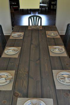 build a farmhouse table (tutorial)