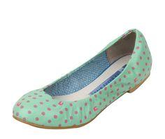 Mint Bunny Footprints v.02 Ballet Flats $69.00 www.lebunnybleu.com