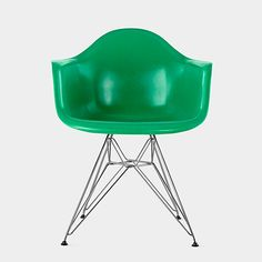 Green Eames® DFAR Molded Armchair, Charles and Ray Eames, 1950