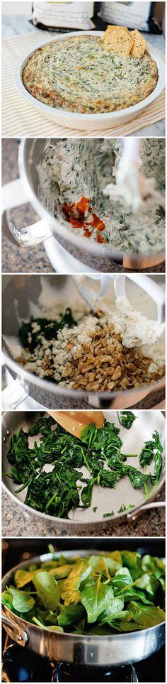 Blue Cheese-Bacon Spinach Dip