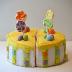 Felt Food Cake, Children's Play Food. $50.00, via Etsy.