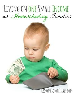 Living on ONE Small Income as Homeschooling Families! #homeschool #frugal