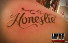 "EITHER SUPPOSED TO BE ""HONESTY"" OR ""HONESTLY,"" AND EITHER WAY ITS WRONG"