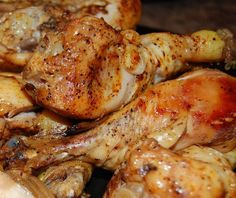 Beer Crockpot Chicken    4-6 Chicken Breasts or 1 Whole or cut up Chicken  1 Can of any kind of Beer  1/2 tsp Garlic Powder  1/2 tsp Basil  1/2 tsp Paprika  1/2 tsp Black Pepper  1/2 tsp Kosher Salt  *You can use whatever spices you like        Put all ingredients into crockpot      If frozen cook on high 4-5 hours or low 8-10      If fresh cook on high 3-4 hrs or low 7-8 hours if fresh