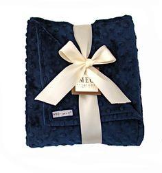Classy Navy Blue Minky Dot Baby Boy Blanket by MEGbabyboutique, $36.00