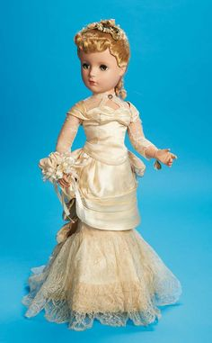 Victorian Bride by Madame Alexander from the 1951 Fashion Academy Award Portrait Series [Theriault's Antique Doll Auctions]