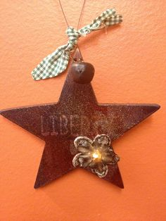 """""""Free Shipping""""  Patriotic Liberty Vintage Inspired hand embellished  Star Ornament by HaileyHarrison, via Etsy ... $4.99"""
