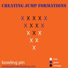 Where to put your best, average, and good jumpers in a bowling pin formation - kateboydcheerleading.com