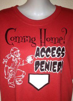 Bling Shimmer Softball shirt . $20.00, via Etsy.