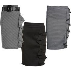 The Ruffle Pencil Skirt