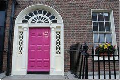 Bold Door ireland, dream homes, pink door, shutter, front doors, paint, knock knock, pink houses, front door colors