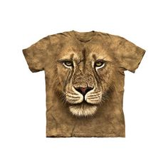 Lion lifelike creature face tee for kids $14