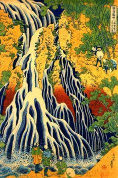 Katsushika Hokusai (1760-1849) The Waterfall at Yoshino