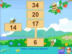 Las abejas: ordenar números en Primer Ciclo #metemáticas #math #numbers #números