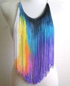 hand paint fringe and make into a necklace or stitch onto clothing