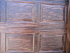 Garage doors by generalfinishes on pinterest wood garage for Faux painting garage doors look like wood
