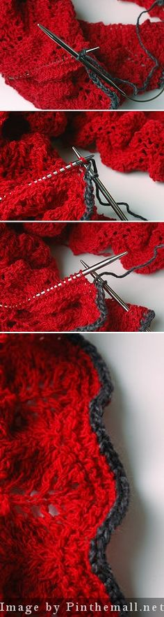 """#Knitting_Tutorial - """"Almost I-Cord. This is a simple way to bind off that looks almost like i-cord but is much faster and simpler to do. There's a free photo tutorial for this at http://www.ravelry.com/patterns/library/semi-cord """" from #KnittingGuru ** http://www.craftsy.com/KnittingGuru"""