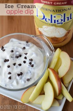 Ice Cream Apple Dip - Crazy for Crust #IScream4ID #summer @International Delight