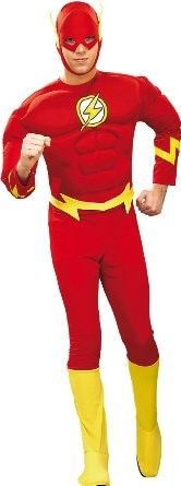 Flash Costume Adult - sheldon's style! haha !officially licensed Kids Flash costume from Justice League.