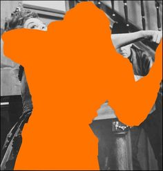"""Two Person Fight (One Orange): With Spectator,"""" 2004 by John Baldessari"""
