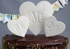 Words chocolate #Wedding Cake Topper ... Wedding ideas for brides, grooms, parents & planners ... https://itunes.apple.com/us/app/the-gold-wedding-planner/id498112599?ls=1=8 … plus how to organise an entire wedding, without overspending ♥ The Gold Wedding Planner iPhone App ♥