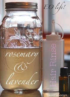 DIY Hair Treatment – Thicker, Softer Hair with Rosemary, Lavender