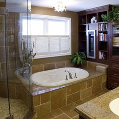 Garden Tub Decor On Pinterest Tubs Window Treatments And Curtains