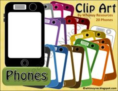 FREE Phone, Tablet, Technology Clip Art from Whimsy Resources on TeachersNotebook.com -  (20 pages)  - Free!~ Phone, Tablet, Technology, Graphic, Color Clip Art