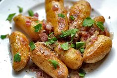 Fingerling Potatoes with Red Onion and Sage kitchens, onions, foods, food dinners, fingerl potato, grills, side dish, red onion, ovens