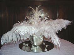 white feather centerpiece