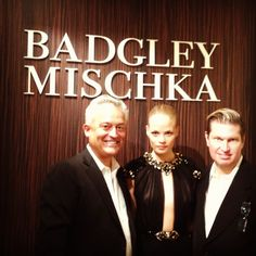 Mark Badgley & James Mischka pose with gorgeous model Franziska. #bgBadgley