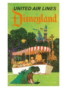 United Airlines: Disneyland in Anaheim, California, c.1960s by Stan Galli