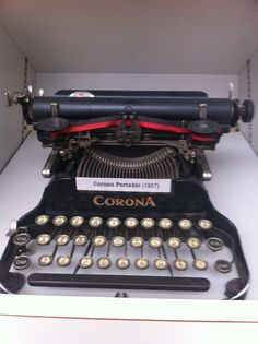 From the American Press Institute typewriter collection, a 1917 Corona portable.