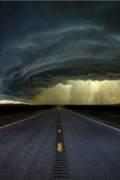 Highway rain..pretty storm cloud formations...ominous