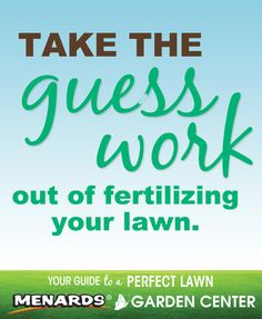 Take the guess work out of fertilizing your lawn! Sign up for reminder emails or browse our collection of lawn articles. http://www.menards.com/main/c-10038.htm?utm_source=pinterest&utm_medium=social&utm_content=perfect_lawn&utm_campaign=gardencenter