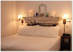 Key West Oasis main house bedroom.  Decorated in a shabby chic coastal feel.