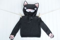 Ravelry: #5 – Le Chat Noir pattern by Stephanie Mason