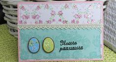 Ruusuinen pääsiäiskortti