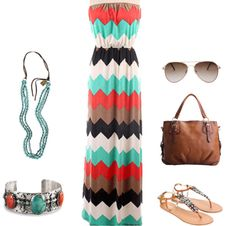 Wine Tasting Outfit. Chevron Maxi. Turquoise. Cowgirl Style.