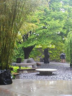 The Noguchi Museum has an outdoor sculpture garden and is home to Isamu Noguchi's designs