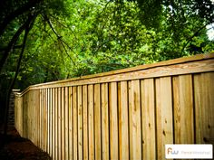 Board on board privacy fence for the home.
