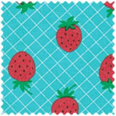 Daiwabo House Designer - Tip Top Canvas - Strawberries in Blue