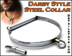 """Darby style"" steel collar.  Interesting lock style.  $60"