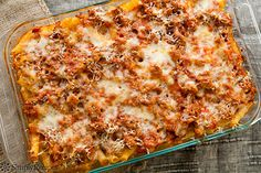 Everyone loves a good baked ziti.  Try using this recipe to make your own tonight!