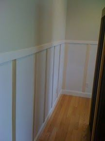 DIY easy peasy faux wainscoting.  Very little skill, time, effort, $ required!